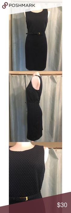 Cute dress Navy blue dress with matching belt . Perfect for office, retails for $80 Dresses Midi