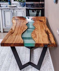 """Купить Стол """"Река"""" из слэбов ценных пород - стол, столик, стол из дерева, стол на заказ"""