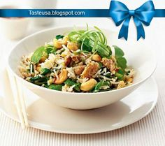 Spicy fried rice with spinach recipe