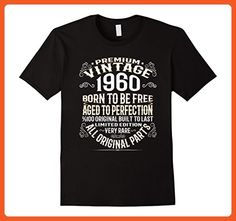 Mens Made In 1960 57th Birthday 57 Years Old Gift T-Shirt Large Black - Birthday shirts (*Partner-Link)