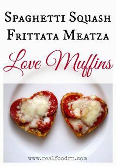 Spaghetti Squash Frittata Meatza Love Muffins. Healthy gluten-free ...