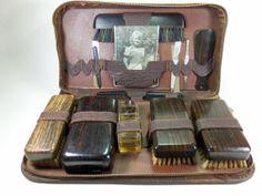 Vintage Mens Grooming Kit. Visit: http://www.bareindulgence.net