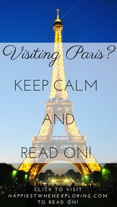 Keep Calm and Read on! at happiestwhenexploring . com (Image of Eiffel Tower by Kimberly Vardeman via Creative Commons) Keep Calm, Statue Of Liberty, Exploring, Travel Destinations, Traveling, Tower, Europe, Paris, Reading