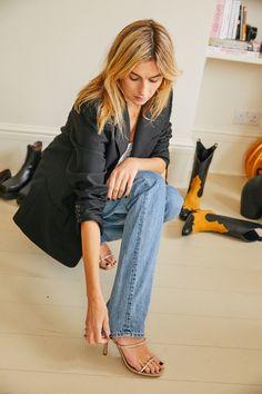 Inside the London apartment of Parisienne Camille Charrière Blazer En Cuir, Leather Blazer, Miuccia Prada, Vogue Paris, Helmut Lang, Acne Studios, Camille Charriere, Dior, Jeans Levi's