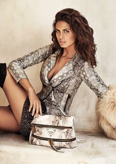 guess accessories 2014 fall winter campaign8 Samantha Hoopes Turns Up the Glam for Guess Accessories Fall Ads