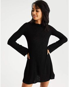 4f0932b512df AE Lettuce-Edge Sweater Dress #Lettuce#edge#Mock Dress Skirt, Shirt