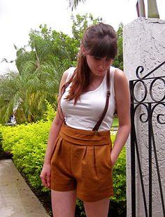 Petite Poupee: Leather suspenders