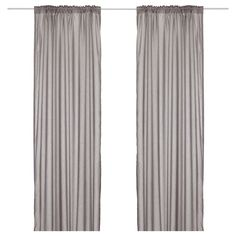 "VIVAN Curtains, 1 pair - IKEA - 9.99 - 57x98-1/2"" each panel - 2 panels total - color stamp with black triangles a la the brick house?"
