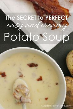 This one step is a game changer! Perfectly creamy soup every time, thick and delicious without any guesswork.
