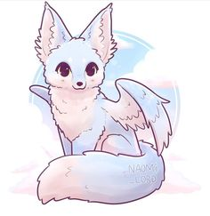 Element Fox ☁️✨ Ok so my idea i. - ✨☁️Air Element Fox ☁️✨ Ok so my idea i. -✨☁️Air Element Fox ☁️✨ Ok so my idea i. - ✨☁️Air Element Fox ☁️✨ Ok so my idea i. - Kawaii Yin and Yang Foxes Stickers and/ or Prints Kawaii Chibi, Cute Chibi, Kawaii Art, Kawaii Anime, Cute Creatures, Fantasy Creatures, Sleeping Fox, Cute Kawaii Animals, Cute Kawaii Drawings