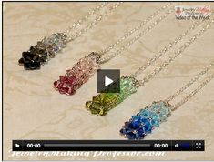 Jewelry Making Professor video at http://www.handmade-jewelry-club.com/ Hw to make Color Gradation Neckace