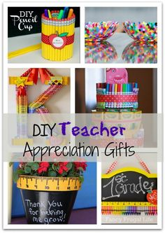 DIY Teacher Gifts - teacher appreciation day coming up soon!