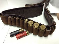 "deluxe shotgun shell belt suede pockets size extra large 38'' to 44"" KASSNAR                          $69.97"