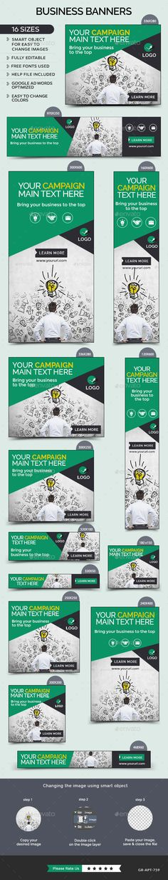 Business Banners Template #design Download: http://graphicriver.net/item/business-banners/12144498?ref=ksioks