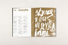 Brochure design for the annual arts festival.  Lettering (4 slogans) by Michał Minor Photos by Barbara Kubska.