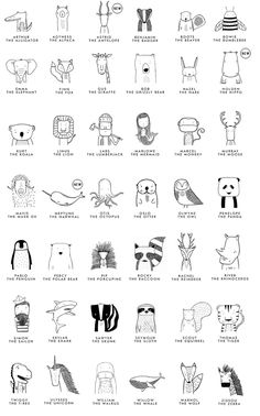 Meet The Wild - nimivo sites Doodle Drawings, Doodle Art, Easy Drawings, Simple Animal Drawings, Doodle Kids, Animal Doodles, Sketch Notes, Modern Outfits, Art For Kids