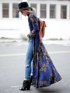 30 buenas ideas para llevar un kimono (muy) largo