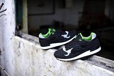Solebox x Saucony Shadow 5000 - the Lucanid - black / green