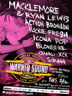 The Warner Sound and Nikon SXSW 2013 Day Parties and Showcases Announced www.mxdwn.com/2013/02/13/news/the-warner-sound-and-nikon-sxsw-2013-day-parties-and-showcases-announced/
