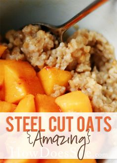 Food and Drink. Steel Cut Oats that are AMAZING! A favorite breakfast at our house!! Recipes at HowDoesShe.com