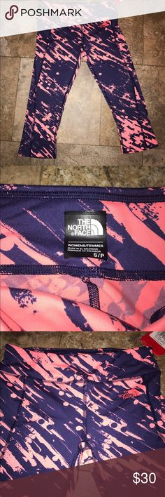 The North Face leggings NWT small workout pants New with tags north face workout pants cropped legging size small    Let's bundle !  10% off on ANY two items purchased AND shipped together.  15% off ANY three items purchased AND shipped together! North Face Pants Leggings