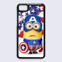 despicable me with captain america costume for blackberry Z10 case, US $16.89