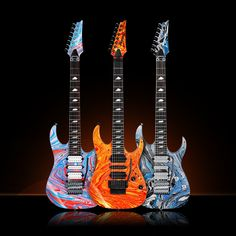 Ibanez Steve Vai 'Passion & Warfare' 25th Anniversary signature models.