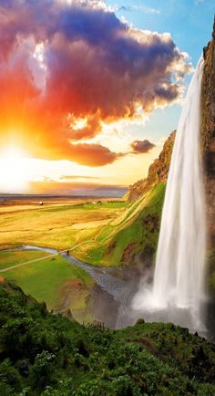 Scenic Waterfall, Iceland - Seljalandsfoss 16 Reasons Why You Must Visit Iceland Right Now. Amazing no. Beautiful Waterfalls, Beautiful Landscapes, Famous Waterfalls, Places To Travel, Places To See, Travel Destinations, Beautiful World, Beautiful Places, Beautiful Scenery