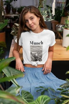 Henri Rousseau, Van Gogh, Harajuku, Grunge, Hipster, Rock Shirts, Quality T Shirts, Cotton Tee, Spun Cotton