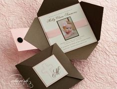 Diy baptism invitations from i look bewitching with a little extra accessories 12 Box Invitations, Handmade Invitations, Baby Shower Invitations, Invitation Ideas, Baptism Invitation For Boys, Christening Invitations Girl, Baby Boy Baptism, Baptism Party, Baptism Ideas
