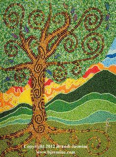 Tree of Life Beaded Fine Art by Brandi Jasmine