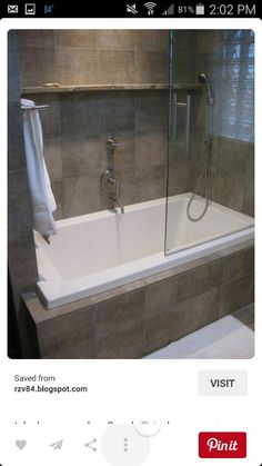 New Square Tub Shower Combo
