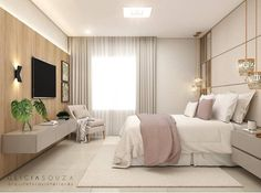 Modern Master Bedroom, Single Bedroom, Stylish Bedroom, Apartment Interior Design, Luxury Homes Interior, Pinterest Room Decor, Hotel Room Design, Girl Bedroom Designs, Design Case