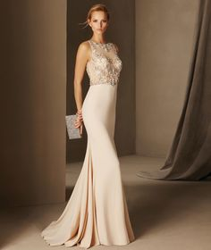 Bosnia - Cocktail dress with a bateau neckline in tulle, crepe and gemstones