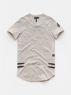 Long fit t-shirt zand - The Sting