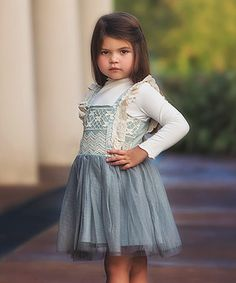 Another great find on #zulily! Blue Mayberry Dress & Mock Set - Infant, Toddler & Girl #zulilyfinds