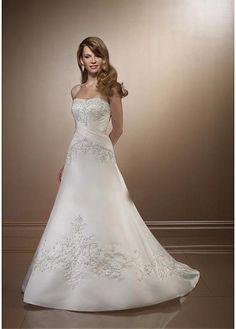 ELEGANT SATIN SOFT SATIN A-LINE STRAPLESS NECKLINE WEDDING DRESS LACE BRIDESMAID PARTY COCKTAIL GOWN FORMAL BRIDAL PROM