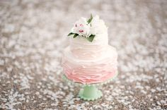 pink ombre ruffles - inspired by Maggie Austin, another photo shoot
