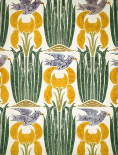 The Xipon wallpaper by C.F.A. Voysey (1857-1941). England, early 20th century.