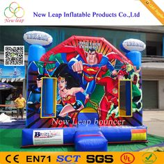 Cheap Superman inflatable bounce house banners for sale,bounce house for banners