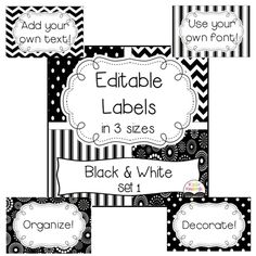 Editable labels to organize, decorate, and brighten up your classroom! $