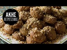 Μελομακάρονα | Άκης Πετρετζίκης - YouTube Greek Cookies, Honey Cookies, Spice Cookies, Greek Sweets, Greek Desserts, Greek Recipes, Greek Christmas, Christmas Baking, Christmas Cookies