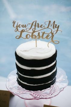 Personalized cake topper: http://www.stylemepretty.com/massachusetts-weddings/chatham/2015/05/04/romantic-pastel-cape-cod-wedding/ | Photography: Summer Street - http://summerstreetphotography.com/