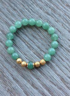 Genuine Green Aventurine Bracelet Boho Bracelet by BBTresors