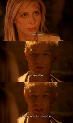 Gah, I cried. Also, I really think she DOES love him, she wouldn't say it otherwise. I don't know why Spike says she doesn't. Still, beautiful but heart-breaking scene.