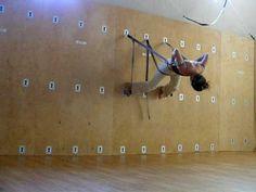 Yoga wall practice