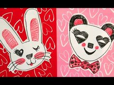 In this video, you'll learn how to create heart stampers, print and draw a panda! Be on the lookout for more how to draw Valentine animal videos. Teachers, t...