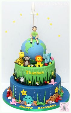 World cake - by Sobi @ CakesDecor.com - cake decorating website