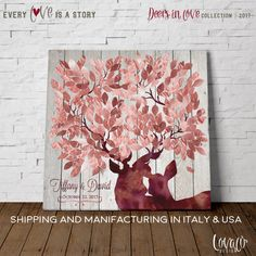 """Lovalù® Design: wedding guestbook trees, custom nursery art prints, stars under the moon, unique deer guest book, travel maps, skyline & more... ❤This """"Guest Book Canvas Art"""" is an alternative to the traditional guest book. The guest book signed by guests with an acronym or a loving thought,will be a framework that will forever remember your special day.❤  Lovalù goes into our homes to bring color, love and sweet memories. Our guest book alternative printed on canvas, with their innate…"""