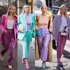 Candy shop - Which one is your fav? 🍬🦄🧚🏻Anzeige/Tags Random fact: I used to not wear purple because it's the colour of envy, now I feel… Purple Outfits, Colourful Outfits, Colorful Fashion, Spring Outfits, Classy Outfits, Stylish Outfits, Cool Outfits, Fashion Mode, Fashion Outfits